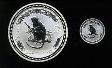 Australia 2004 1/2 oz and 10 oz .999 Silver Lunar Series Year of the Monkey
