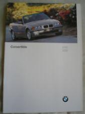 BMW SERIE 3 Cabriolet brochure SEP 1996 mercato USA