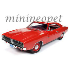 AUTOWORLD AMM1174 CLASS OF 69 1969 DODGE CHARGER R/T 1/18 DIECAST MODEL CAR RED