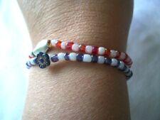 Bead Bracelets x 2 elasticated & clasp type / festival.Handmade