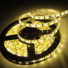 100M 20PCS 24V 5M 5050 SMD 300 Warm White LED Strip Flex Rope Light Waterproof