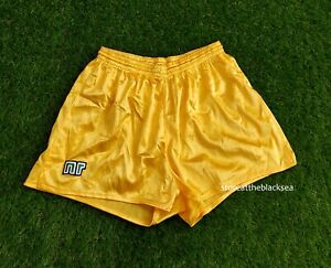 ENNERRE NR VINTAGE FOOTBALL SOCCER SHORTS YELLOW MEN MADE IN ITALY RARE