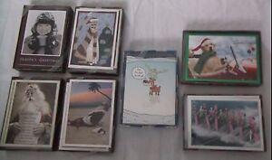 LOT OF 7 NEW BOXED RSVP PEOPLE SANTA CARTOON HUMOR HOLIDAY CHRISTMAS CARDS ENV