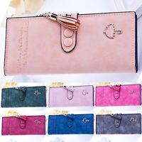 Womens Leather Wallet Clutch Purse Bifold Case Checkbook Card Holder Organizer