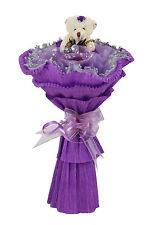 Single Bear Bouquet Gift Purple