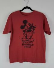 Mickey Mouse Disney Shirt Small Red Disney Store Top Tee