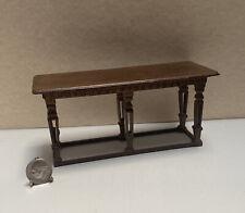 Vintage Early Bespaq Carved Tudor Table Dollhouse Miniature 1:12