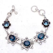 "Jewelry Bracelet 7-8"" Jw056 Blue Indicolite Gemstone Handmade"