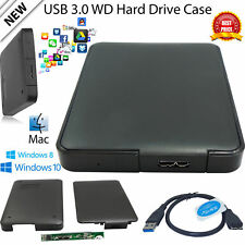 "New Black 2.5"" USB 3.0 External Hard Drive Enclosure SATA HDD Case Caddy UK"
