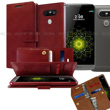 Goospery Double Fold Dual Flip Leather Book wallet Case cover for LG G5 G6 V20