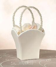 Plain Satin Flower Basket ivory