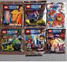 LEGO NEW LOT 6x Nexo Knights Foil Pack Stone ,Clay, Aaron, Cyber Byter, Merlok