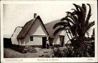 Valencia Spanien Espana s/w AK 1935 gelaufen Barracas de la Huerta Dorfpartie
