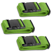 Green Luggage Belts Suitcase Straps Adjustable and Durable, Name Card, Travel Ca