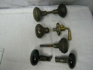 Vintage Lot of Brass? Copper? & Porcelain? Door Knobs