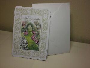 Carol's Rose Garden -  Sympathy card - a lovely garden path on front