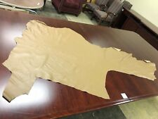 UPHOLSTERY LEATHER EMBOSSED REMNANT - USED