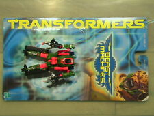 Transformers 1999 Beast Machines Scavenger 100% Compl W/Card C-6 Hasbro Vehicon!
