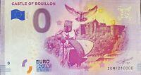 BILLET 0  EURO CASTLE OF BOUILLON  BELGIQUE 2019  NUMERO 10000 DERNIER