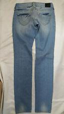 NEW Women's True Religion Mid Rise Light Wash Straight Leg Jeans W 26 x L 34