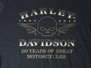 Harley Davidson 110th Anniversary black Shirt Nwt Men's XXXL