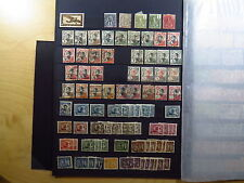 Small Collection Stamps Indochina Indochine **/*/O Kouang Tcheou Plane Ship etc.