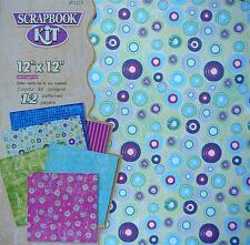 """Scrapbook Kit 12""""X12"""" - 12 Patterned Papers 6 Designs"""