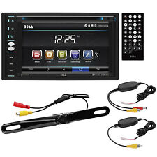 Boss Audio Double DIN Multimedia Player with Video and Backup Camera B9358WRC