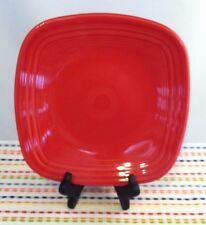 Fiestaware Scarlet Square Lunch Plate Fiesta Red Luncheon Plate