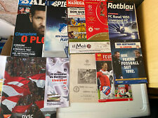 10 Liverpool away programmes in Europe.