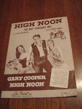 (1952) High Noon (Do Not Forsake Me) Sheet Music - Vintage