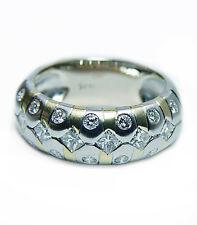 Vintage Princess Diamond Ring 18K White Gold Vintage Estate Heavy