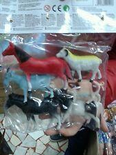 Kit busta animaletti fattoria cavalli gioco ottima qualita giocattolo toy
