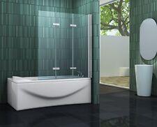 VARIO 130 x 140 Badewannen Faltwand Duschwand Duschabtrennung Dusche Duschwand