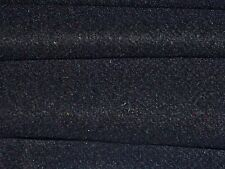 WOOL FLANNEL-BLACK-JACKET/COATING FABRIC -FREE P+P