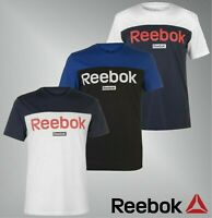 Mens Reebok Crew Neck Lightweight BL Short Sleeve T Shirt Sizes from S to XXL