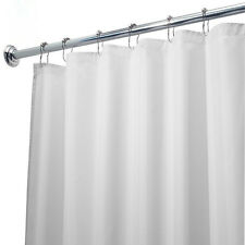 Hotel Collection Waterproof White Fabric Shower Curtain Liner - 70'' W x 72'' L