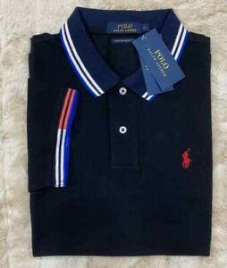 Men Polo Ralph Lauren Mesh Polo Shirt CUSTOM SLIM FIT - S M L XL XXL more colors