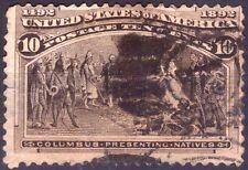 UNITED STATES OF AMERICA - COLUMBIAN ISSUE - RARO FRANCOBOLLO DA 10 CENTS - 1893