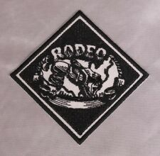 Embroidered Retro Vintage Black & White Cowboy Rodeo Western Patch Iron On USA