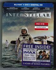 Christopher Nolan's INTERSTELLAR [TARGET-EXCLUSIVE Blu-ray+DVD, 2015] STEELBOOK