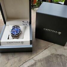 Certina Ds Action Diver Automatic Men's Watch Stunning Blue Dial! **Read Desc**