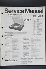 TECHNICS SL-MA1 Original Turntable System Service Manual/Schematic Diagram o51