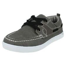 Chaussures décontractées gris à lacets pour garçon de 2 à 16 ans