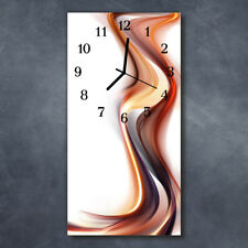 Glass Wall Clock Silent Kitchen Clocks 30x60 cm Abstract Multicoloured