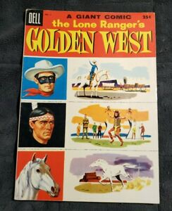 Lone Ranger's Golden Western #3 Dell Giant F-VF Golden Age Free Shipping