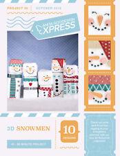 Anita Goodesign Express 3D Snowmen Embroidery Machine CD (CD ONLY)