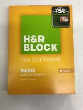 H & R Block Tax Software Federal Basic Simple Solutions 2013 Brand New! Sealed!