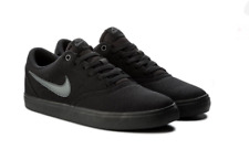 Nike SB Check Solar Mens Womens Black Canvas Skate Shoes Brand New Size UK 7