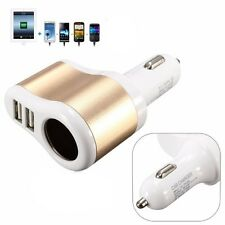 New 12V 1A & 2.1A Universal 2 Ports Dual USB One Way Car Charger Adapter